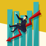Falling sales chart Stock Image