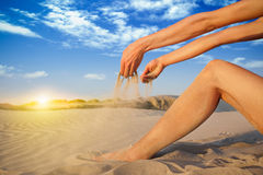 Falling sand Royalty Free Stock Images