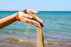 Falling sand Stock Images