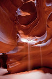 Falling sand in Antelope Canyon Royalty Free Stock Photo