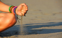 Falling sand Royalty Free Stock Photo