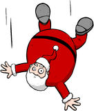 Falling Santa Christmas Cartoon Character Illustration Royalty Free Stock Images