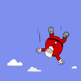 Falling Santa Christmas Cartoon Character Illustration Royalty Free Stock Photo