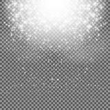 Falling Shining Snowflakes and Snow on Transparent Background. C Royalty Free Stock Images