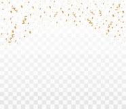 Shiny golden confetti royalty free illustration