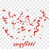 Falling shiny Red confetti royalty free illustration