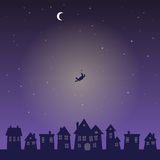 Falling from the Sky in the Middle of the Night Royalty Free Stock Photos