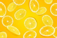 Falling sliced citrys mix stock image