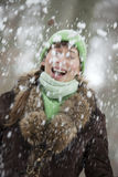 Falling snow Stock Images
