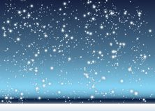 Falling snow. Abstract background with winter scene with snow Stock Photo