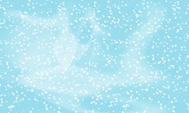 Falling snow background. Vector illustration with snowflakes. Winter snowing sky. stock illustration