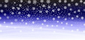 Falling snow background. Vector illustration with snowflakes. Winter snowing sky. Vector royalty free illustration