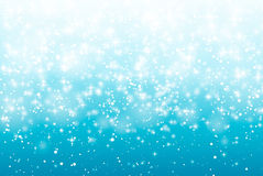 Falling snow on a blue background. Vector illustration 10 EPS. Royalty Free Stock Photos