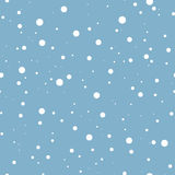 Falling snow on blue. Vector seamless background. Vector seamless background with white falling snow on blue Stock Image