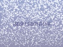 Falling snow Christmas design royalty free illustration