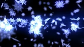 Falling snow effect. Spin of snow crystal. Christmas. Snowflake. Winter season. Snow confetti loop animation. Snow crystal falling. Winter cold animation vector illustration