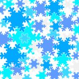 Falling snow flakes Royalty Free Stock Photo