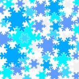 Falling snow flakes. Pattern Royalty Free Stock Photo