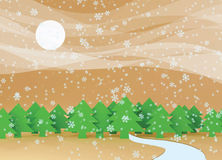 Falling snow. Royalty Free Stock Image