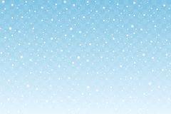 Falling snow isolated on blue transparent background. Christmas and New Year decoration. Vector. Illustration stock illustration