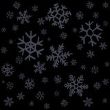 Falling snow or night sky with stars vector seamless pattern. Royalty Free Stock Photos