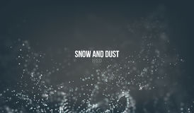 Falling snow particles flying on the air. Dust storm vortex. Bokeh effect. Snowflake cloud. Explode stock illustration