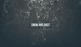 Falling snow particles flying on the air. fantasy dust on the dark background.  Royalty Free Stock Image