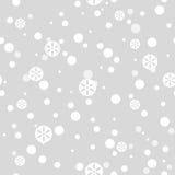 Falling snow pattern Royalty Free Stock Image