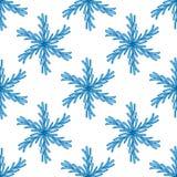 Falling snow  seamless pattern. White splash on blue background Royalty Free Stock Images