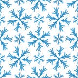 Falling snow  seamless pattern. White splash on blue background Stock Photography