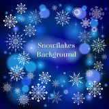 Falling snow. Falling shiny snow background vector illustration Stock Photography