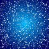 Falling snow sky background. Winter snowed in vector pattern Stock Photos