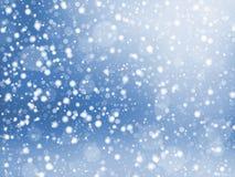Falling snow texture. Winter festive background. Vector Illustration Stock Image