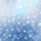Falling snow texture. Winter festive background. Vector Illustration. Royalty Free Stock Photo