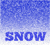 Falling Snow Vector Background Royalty Free Stock Photos