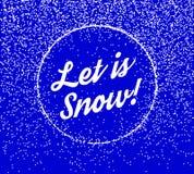 Falling Snow Vector Background Stock Photos