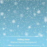 Falling snow vector background Stock Photography