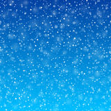 Falling snow winter background Royalty Free Stock Image