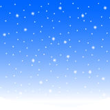 Falling snow. Winter landscape with falling snow Stock Images