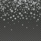 Falling snowflake isolated vector winter decoration wallpaper. stock illustration