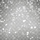 Falling snowflake on transparent background. Winter background. Vector Stock Photography