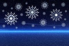Falling Snowflakes Stock Photos