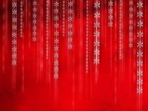 Falling snowflakes Stock Image