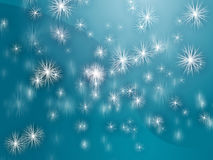 Falling snowflakes Royalty Free Stock Image