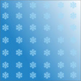 Falling snowflakes on the blue background  image EPS10 Royalty Free Stock Photos