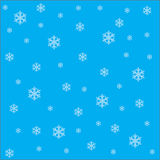 Falling snowflakes on the blue background vector image EPS10 Stock Photography