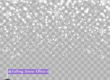 Falling snowflakes on isolated background. Overlay design element. Christmas decorations. Vector illustration. vector illustration