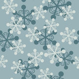 Falling snowflakes seamless pattern Royalty Free Stock Photography