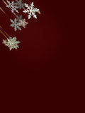 Falling snowflakes and stars Royalty Free Stock Photo