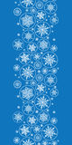 Falling Snowflakes Vertical Border Seamless Stock Photography